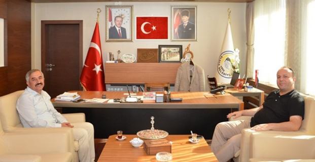 Cahit Çaviş'den Başkan Şaltu'ya ziyaret