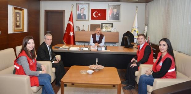 Gençlik Liderleri'nden Başkan Şaltu'ya ziyaret