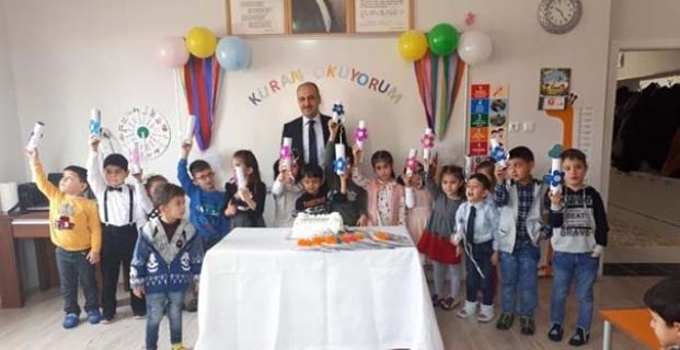 4-6 yaş Kur'an kurslarını ziyaret ettiler