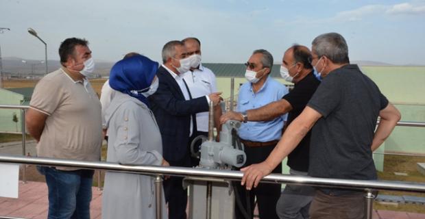 Başkan Şaltu, oda başkanlarına arıtma tesisini gezdirdi