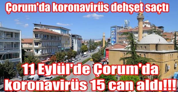 Korona Çorum'da bir günde 15 can aldı