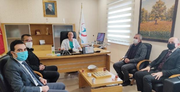 Başkan Şaltu,Başhekim Ergin ile görüştü