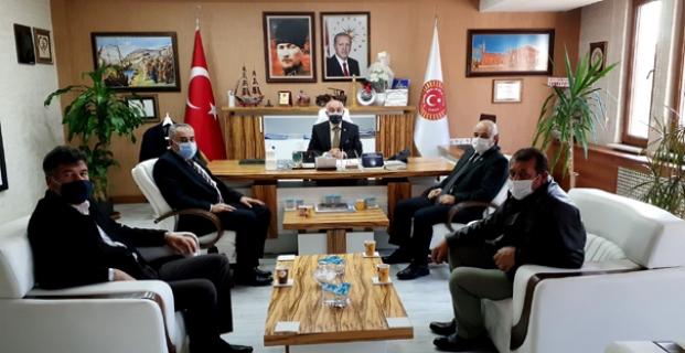Osman Günay'ı ziyaret ettiler