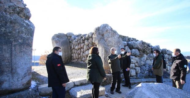 Alacahöyük- Boğazköy Tarihi Milli Parkını gezdi