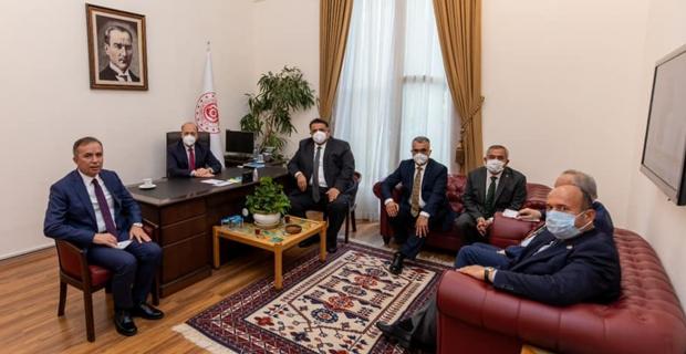 Bakan Bilgin'i ziyarete Başkan Şaltu da katıldı