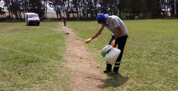 Yeşil alanlar temizleniyor