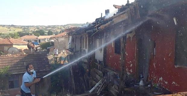 Büyükdona Köyü'nde korkutan yangın