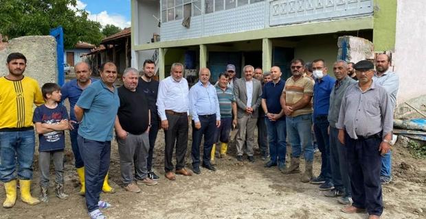 İsmailli Köyü'ndeki sel mağdurlarına ziyaret