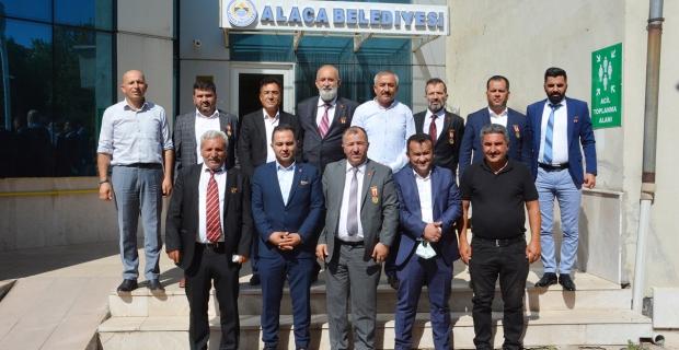 15 Temmuz Gazilerinden Başkan Şaltu'ya ziyaret