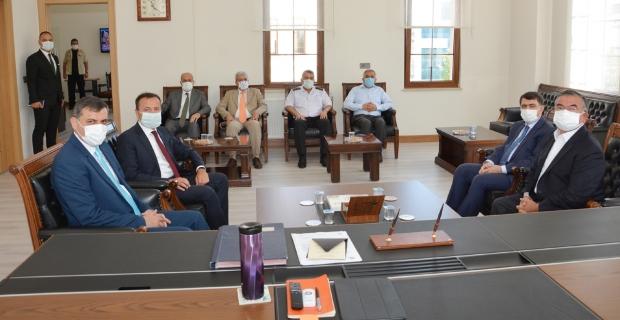 İsmet Yılmaz ve Vasip Şahin'den Alaca ziyareti