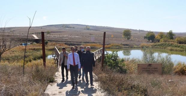 Hitit Barajı'nda incelemelerde bulundu