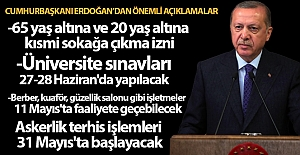 Cumhurbaşkanı Erdoğan, normalleşme planını açıkladı