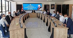 Başkan Şaltu, Belediye Başkanları toplantısına katıldı