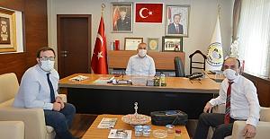 Şahin ve Arslan'dan Başkan Şaltu'ya ziyaret