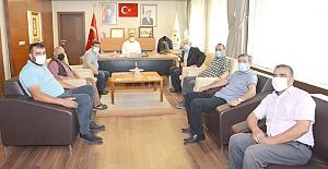 MHP heyetinden Başkan Şaltu'ya ziyaret