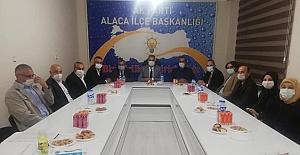 İlçe yönetim kurulu toplantısına katıldı