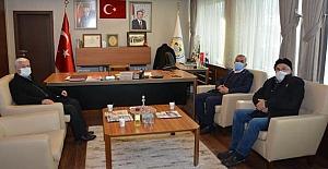 Başkan Şaltu ile görüştüler
