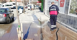 Alaca sokakları yıkandı