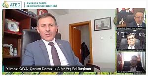 Diyar Diyar Tarım Ekonomisi Çorum'a konuk oldular