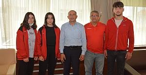 Alacalı sporcular Ümit Milli Takım seçmelerine uğurlandı