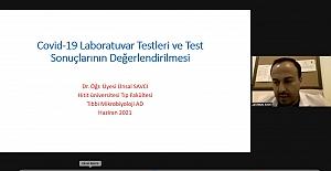 Covid-19 tanısı testleri hakkında bilgi verdi