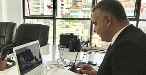Başkanlarla video konferanslı toplantı