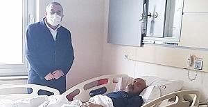 Başkan Şaltu'dan hastane ziyareti