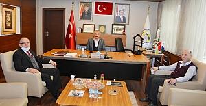 Türker Cengiz'den Başkan Şaltu'ya ziyaret