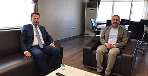 Kenan Yaşar'dan Başkan Şaltu'ya ziyaret