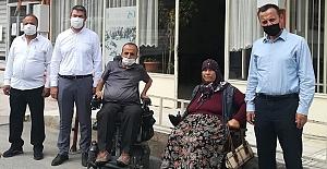 Akülü sandalye bağışında bulundular