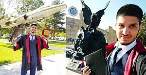 Alacalı genç üniversiteyi birincilikle bitirdi