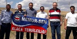 Alaca Memur Sen Ankara'daki eyleme katıldı