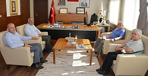 Emekli Org. İhsan Uyar'dan Başkan Şaltu'ya ziyaret