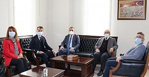 Rektör Öztürk'ten Kaymakam Aytemür'e ziyaret