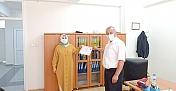 Sağlık çalışanlarına maske dikenlere teşekkür